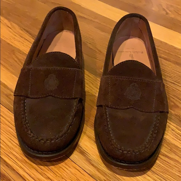 Suede Polo Lauren Shoes Men's Brown Ralph Loafers e9IY2WHED